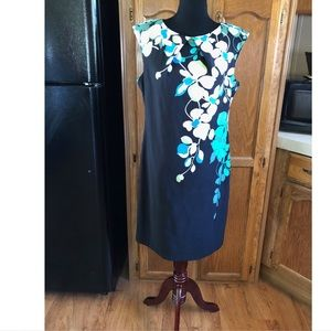 New York & Company Floral Sheath Dress Size 16